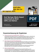Mobile Impact Academy II - USPs und Stärken ausgewählter Mobile Portale - meinestadt.de