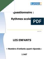 Questionnaire Rythmes 2013