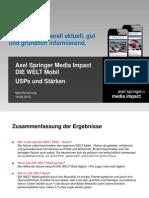 Mobile Impact Academy II - USPs und Stärken ausgewählter Mobile Portale - DIE WELT Mobil