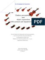 Timbre Perception and Object Separation With Normal and Impaired Hearing