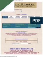 EO 192 - Reorganizing the DENR