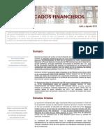 Informe de Mercados Julio- Agosto 2013
