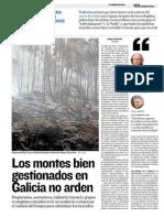 Los montes bien gestionados en Galicia no arden