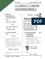 III BIM - 2do. Año - Guía 8 - Operaciones con Fracciones