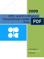 OPEC- Research Paper for MENA