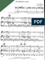 Alice Cooper Schools Out Piano Score Sheet Music