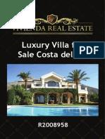 Luxury Villa for Sale Costa Del Sol | R2008958 | Vivienda Real Estate