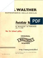 Walther Pricelist 1938