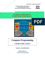 COM 113 Practical Book - InTRO to Computer Programming