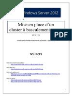 Mise en place d'un cluster à basculement (WSFC) sous Server 2012 (tuto de A à Z)