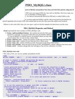 PDO_MySQLi class
