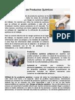 Riesgos en el Uso de Productos Químicos