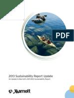 Marriott Sustainability Report Update 2013