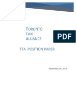 Toronto Taxi Alliance Position Paper