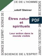 Rudolf Steiner - Tres Naturels Et Spirituels - Leur Action Dans Le Monde Visible - GA 98