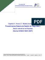 Procedimientos OHSAS 18001