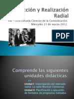 Producción y Realización Radial - I clase miércoles 21 de marzo 2012.
