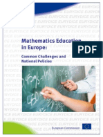 Mathematics Education in Europe