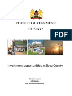 Siaya County Investment Opportunities Booklet