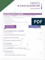 Questionnaires Sur Le Devenir Des Bacheliers de 2004