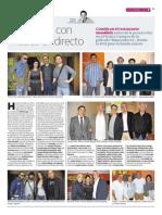 El director Pablo Berger y el Cineclub FAS  reciben un homenaje en Mendibile Jauregia