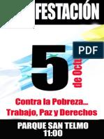 Caretel manifestación 5 de octubre más manifiesto