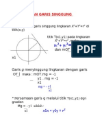 Persamaan Garis Singgung Lingkaran New