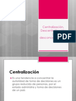 Centralización, Descentralización y desconcentración (1)