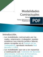 Modalidades Contractuales