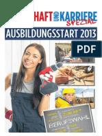Wirtschaft & Karriere Spezial - Ausbildungsstart 2013