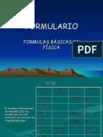 Formulas Basicas de Fisica Glv 2