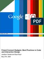 Friend Connect Gadgets