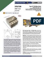Surge Protector - Datasheet Type - PI 7100 Blue Series (http://shop.acdc-dcac.eu/)