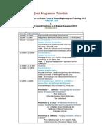 Programme Schedule ICMTSET-IRCEBM 2013 (1)
