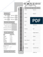 Cortex character Sheet