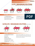 Passives Satellite Broadband Splitters