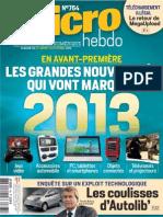 Magazine MICRO HEBDO N.764 Du 31 Janvier Au 6 Fevrier 2013
