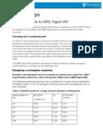 Soakaway Design Example BRE Digest 365