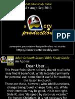 3rdQuarter 2013 Lesson 12 Reformation Healing Broken Relationship