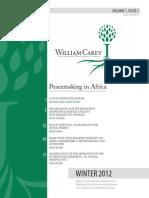William Carey International Development Journal Winter 2012