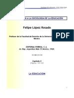 La Educación - Profr. Felipe López.