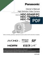 Panasonic HDCTM41P Camcorder Manual