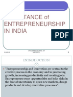 Importance of Entrepreneurship in India