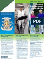 Lumbar Laminectomy Brochure