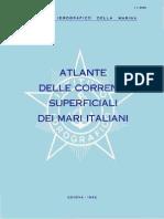 II 3068 Atlante Della Correnti Superficiali Dei Mari Italiani