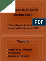 Presentación de Informática II-2do 2009