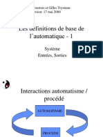 Definitions de Base de l'Automatique