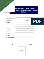 Technical Data Card CIMSA Unsyiah