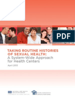 Taking Routine Histories Sexual Health