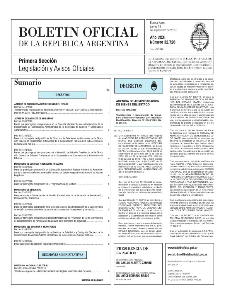 Estatización trenes Córdoba y Tucumán
